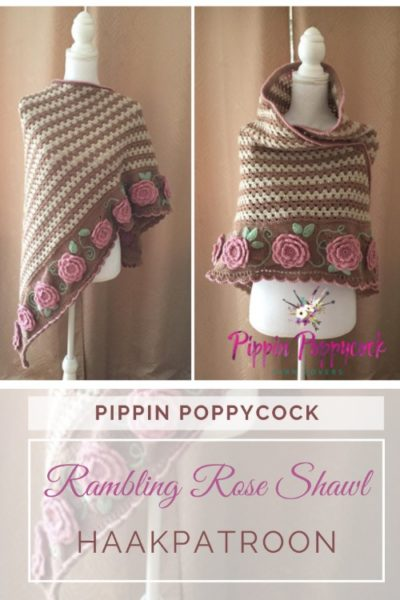Haakpatroon Rambling Rose Shawl