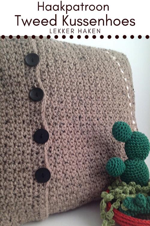 Haakpatroon Tweed Kussenhoes