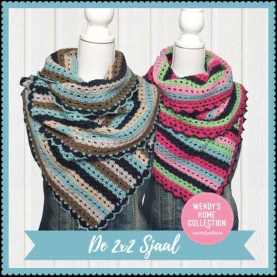 Haakpatroon 2x2 Sjaal