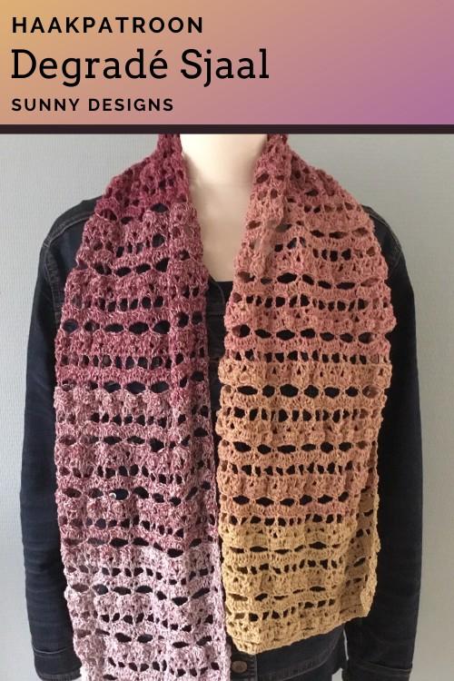 Haakpatroon Degradé Sjaal