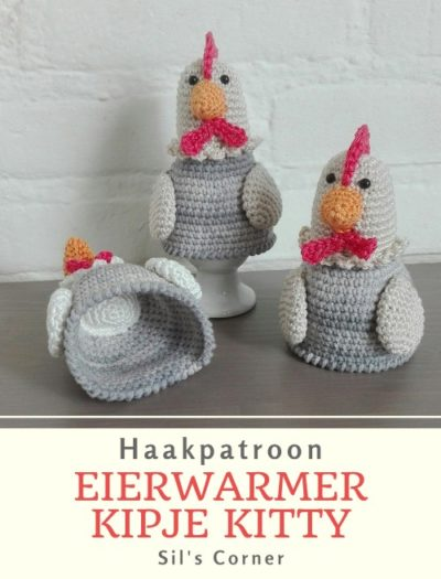 Haakpatroon Eierwarmer Kipje Kitty