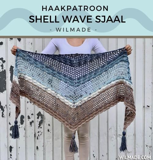 Haakpatroon Shell Wave Sjaal