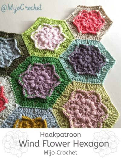 Haakpatroon Wind Flower Hexagon