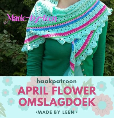 Haakpatroon April Flower Omslagdoek
