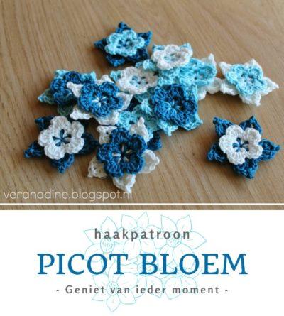 Haakpatroon Picot Bloem