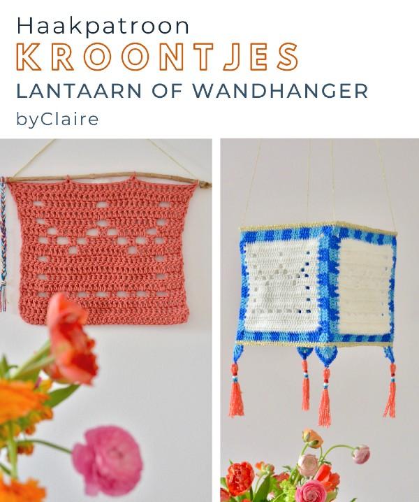 Haakpatroon Kroontjes Lantaarn of Wandhanger