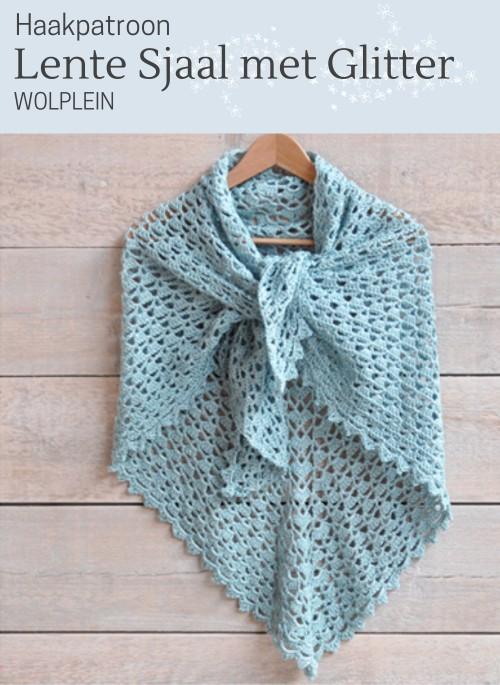 Haakpatroon Lente Sjaal met Glitter