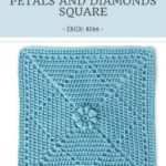 Haakpatroon Petals and Diamonds Square