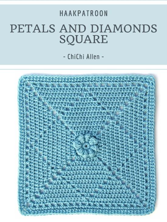 Haakpatroon Petals and Diamonds Square