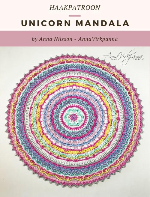 Haakpatroon Unicorn Mandala