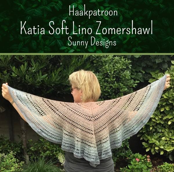 Haakpatroon Katia Soft Lino Zomershawl