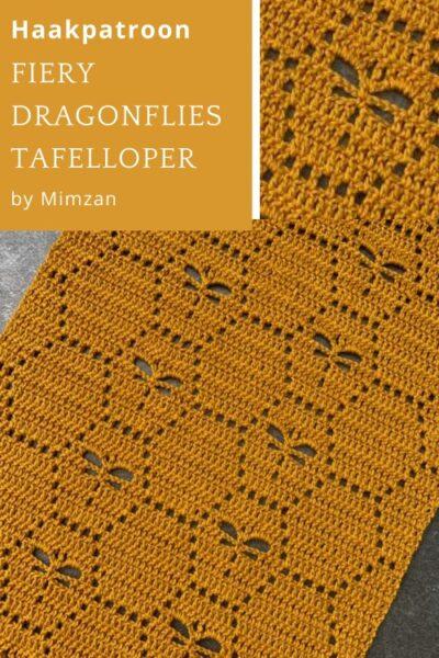 Haakpatroon Fiery Dragonflies Tafelloper