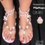 Haakpatroon Flipflops Cupcakes