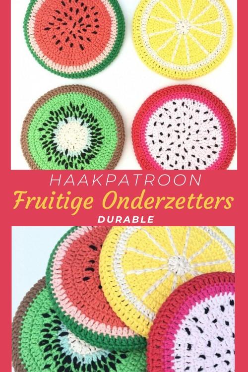 Haakpatroon Fruitige Onderzetters
