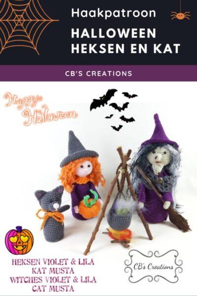 Haakpatroon Halloween Heksen en Kat