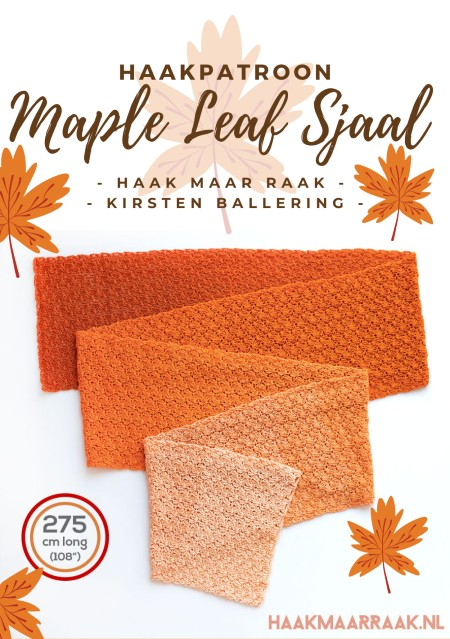 Haakpatroon Maple Leaf Sjaal