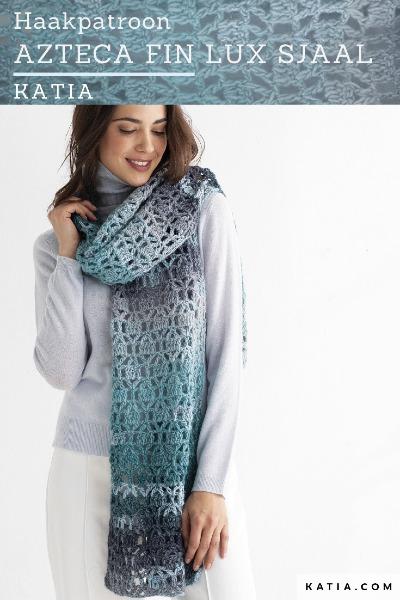 Haakpatroon Azteca Fin Lux Sjaal