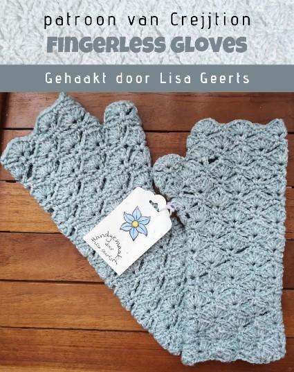 Fingerless gloves haakpatroon