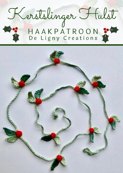 Haakpatroon Kerstslinger Hulst