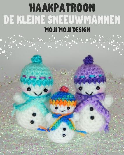 Haakpatroon Kleine Sneeuwmannen