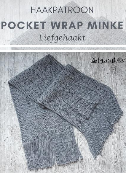 Haakpatroon Pocket Wrap Minke