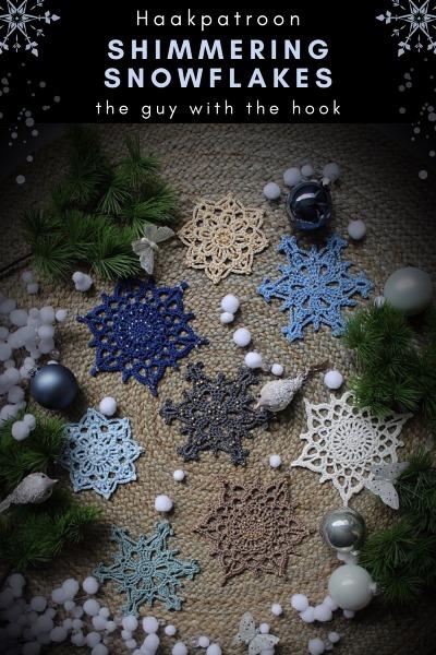 Haakpatroon Shimmering Snowflakes