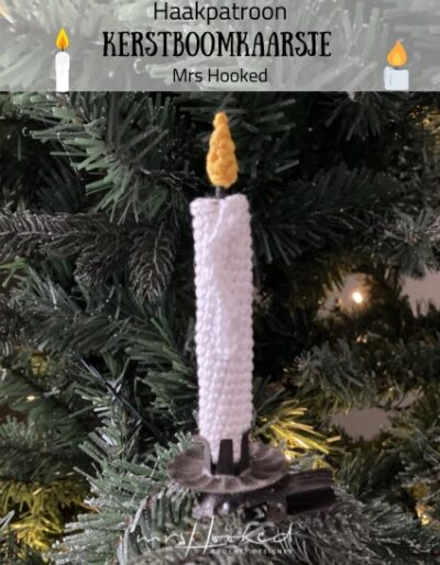 Haakpatroon Kerstboomkaarsje