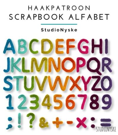 Haakpatroon Scrapbook Alfabet