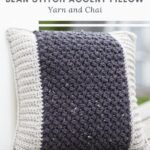 Haakpatroon Bean Stitch Accent Pillow
