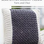Haakpatroon Bean Stitch Accent Pillow