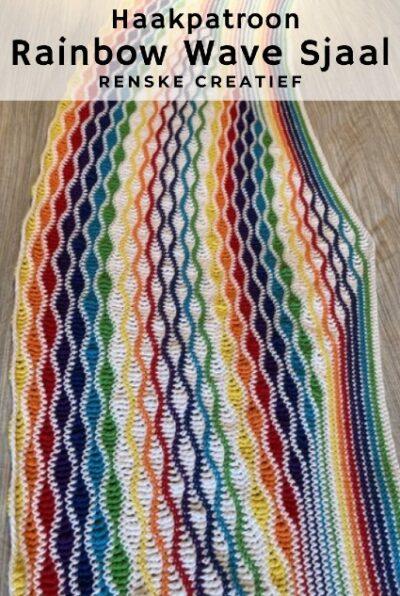 Haakpatroon Rainbow Wave Sjaal