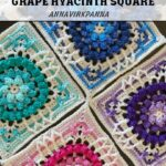 Haakpatroon Grape Hyacinth Square