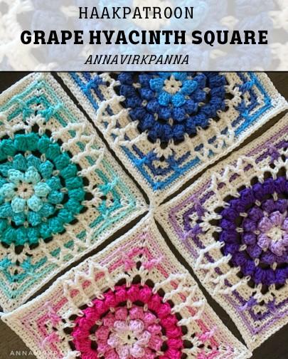 Haakpatroon Grape Hyacinth Square