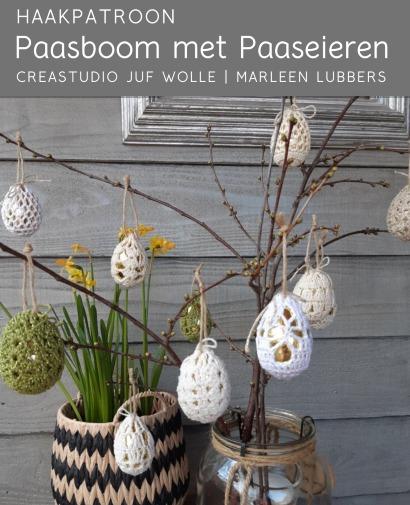 Haakpatroon Paasboom met Paaseieren
