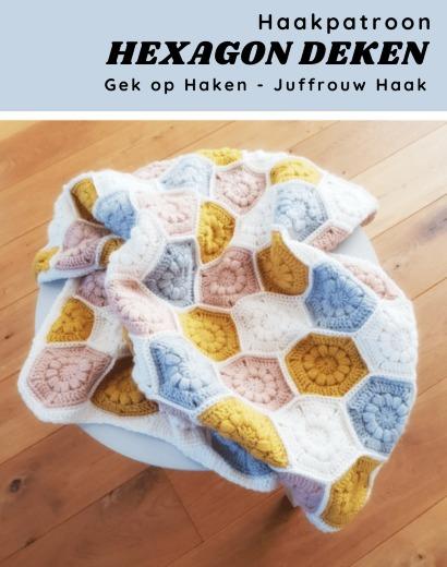 Haakpatroon Hexagon Deken