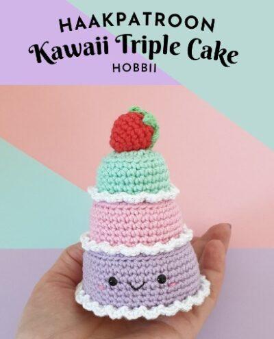 Haakpatroon Kawaii Triple Cake