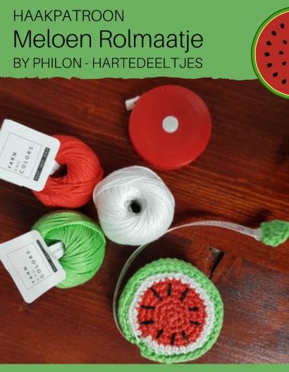Haakpatroon Meloen Rolmaatje