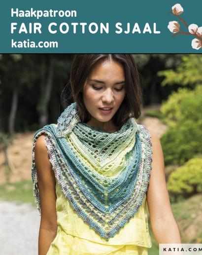 Haakpatroon Fair Cotton Sjaal