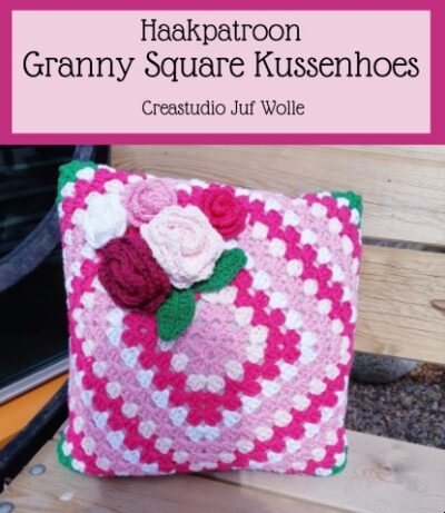 Haakpatroon Granny Square Kussenhoes