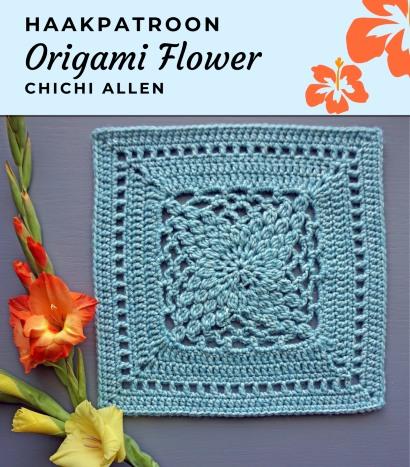 Haakpatroon Origami Flower