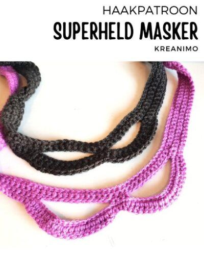 Haakpatroon Superheld Masker