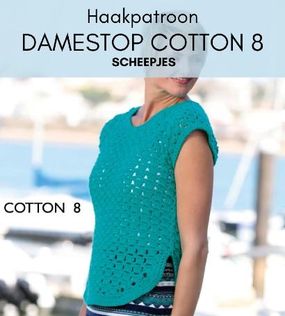 Haakpatroon Damestop Cotton 8