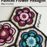 Haakpatroon Painted Flower Hexagon