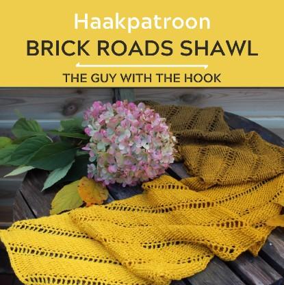 Haakpatroon Brick Roads Shawl